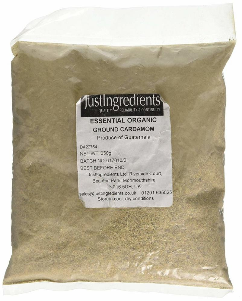 JustIngredients Essential Organic Groung Cardamom 250g