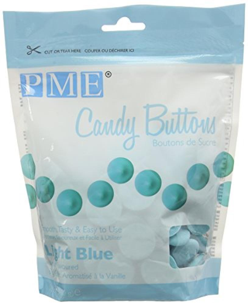 PME Vanilla Flavoured Light blue Chocolate Candy Buttons 340g