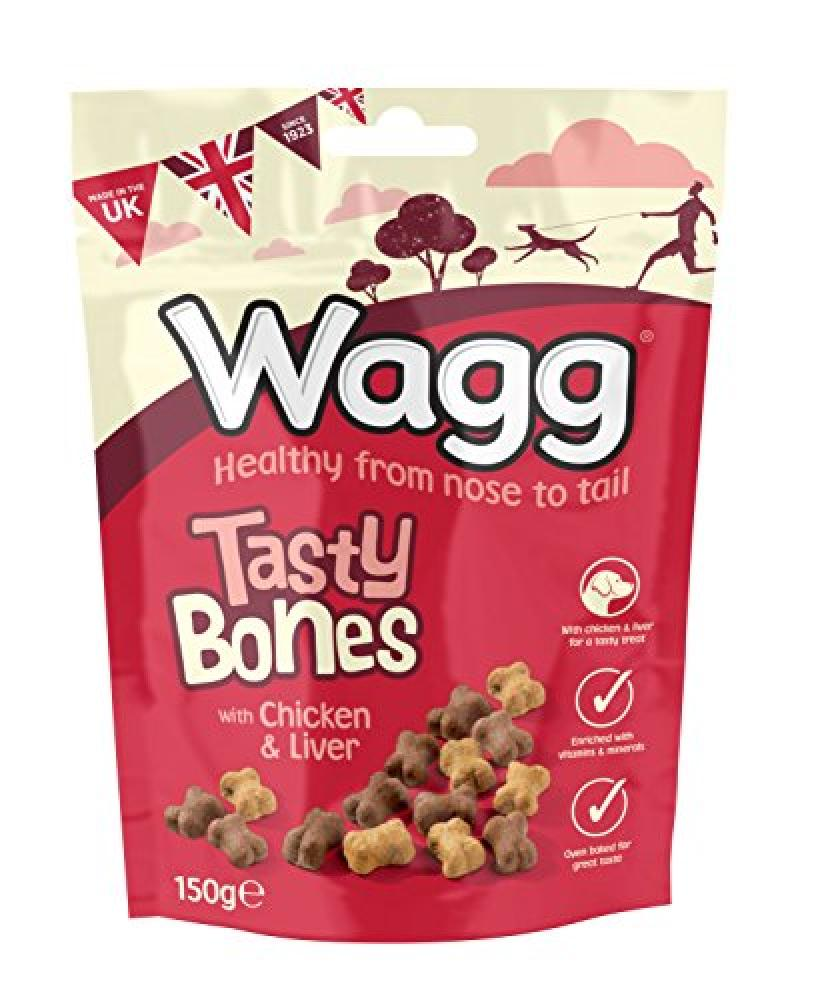 Wagg Tasty Bones With Chicken and Liver 150 g