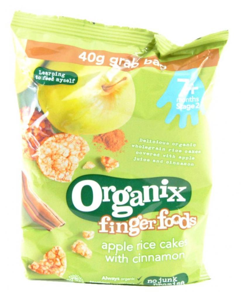 Organix Finger Foods Apple Rice Cakes With Cinnamon 40g