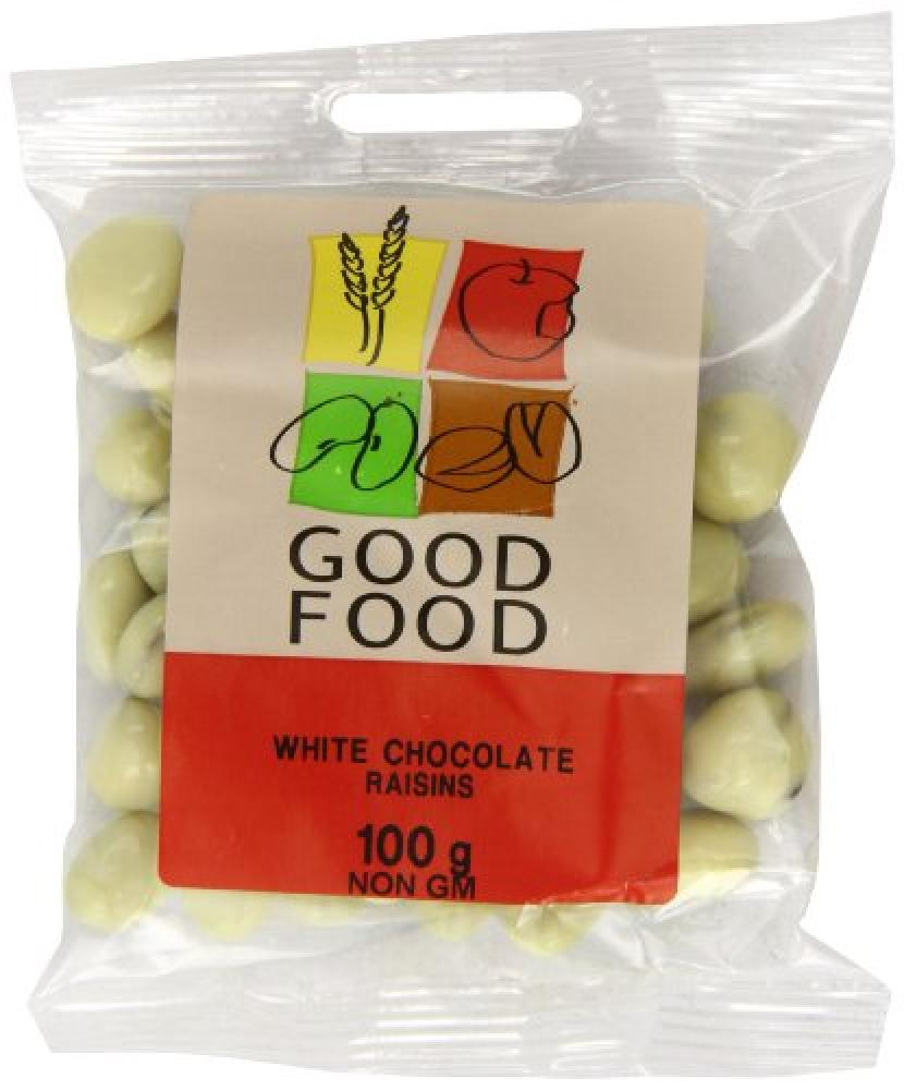 Mintons Good Food White Chocolate Raisins 100g
