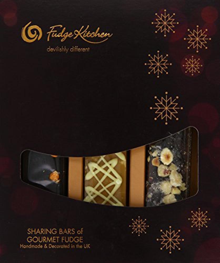Fudge Kitchen Trio of Gourmet Fudge Bars - Hazelnut Heaven - Clotted Cream and Chocolate Orange - 495g