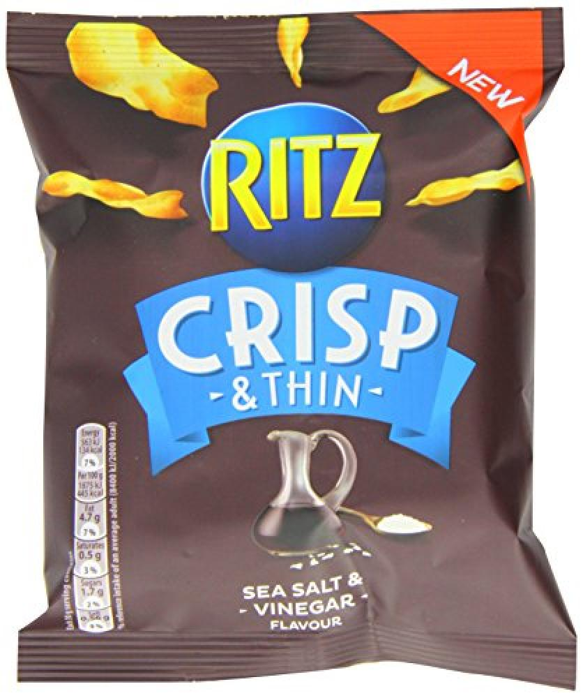 Ritz Crisp and Thin Sea Salt and Vinegar Flavour 30g