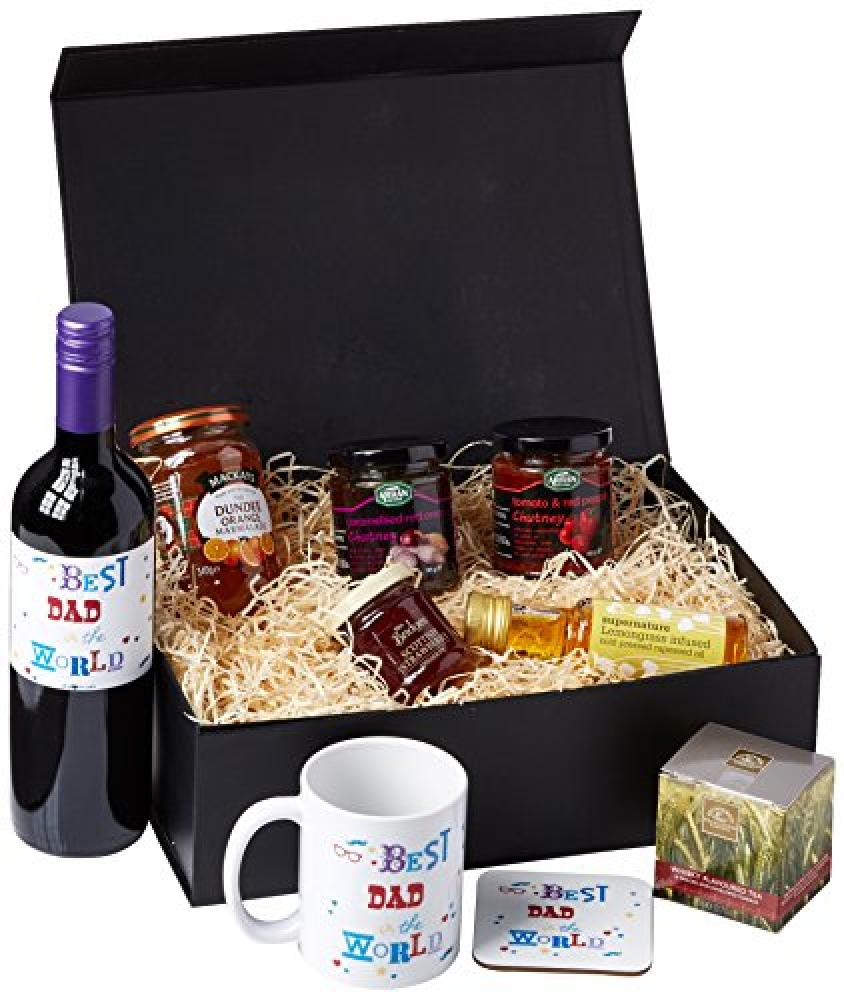 Ukgiftbox Best Dad in the World Red Wine Regular Size Hamper