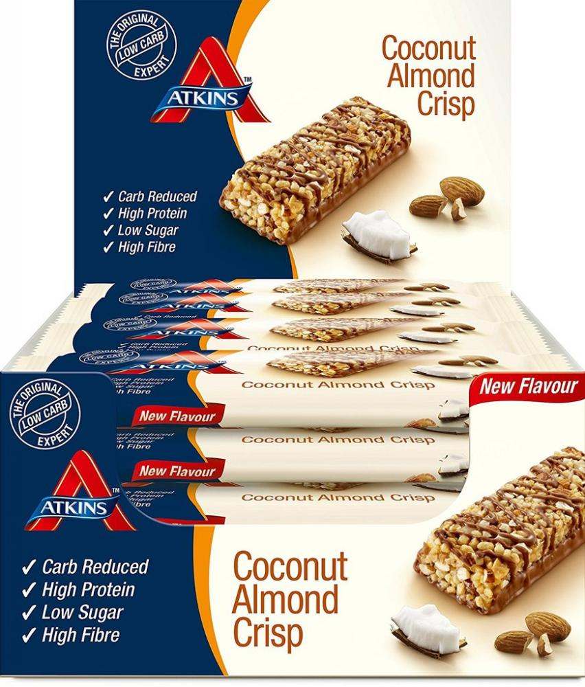 CASE PRICE  Atkins Coconut Almond Crisp 16 x 60g