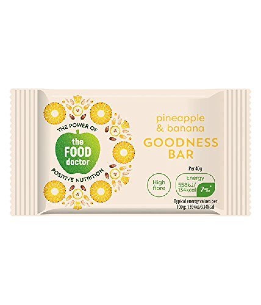 The Food Doctor Pineapple and Banana Goodness Bar 40g