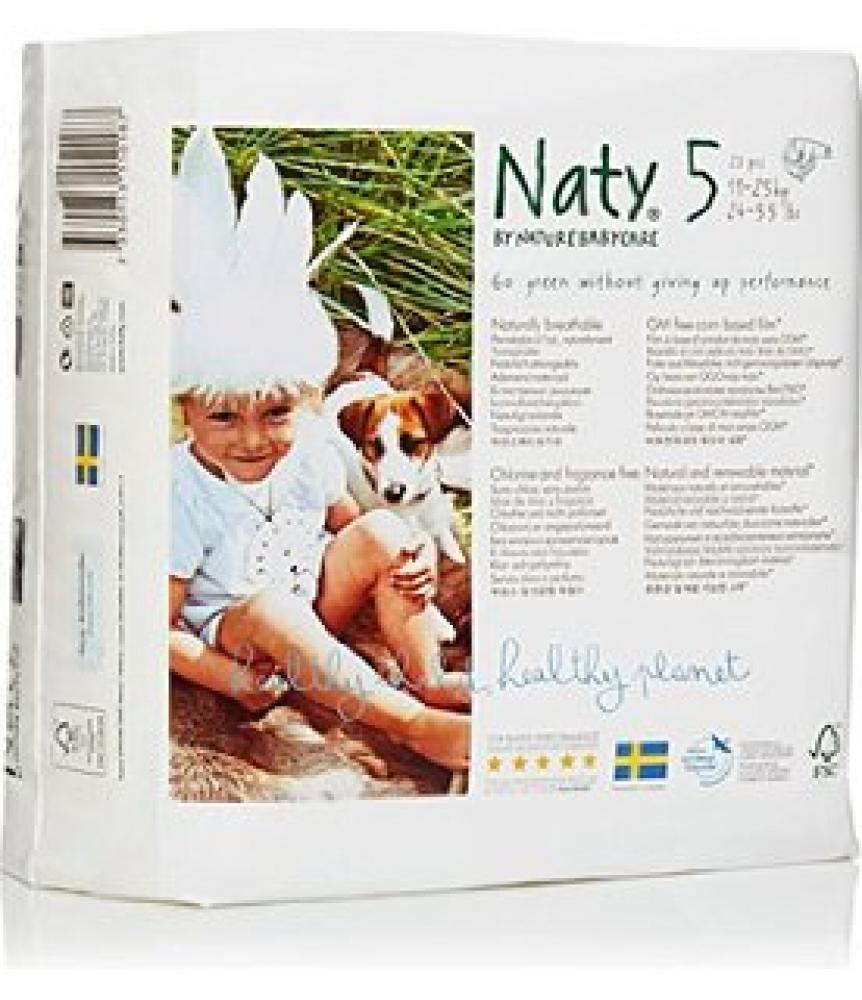 Naty By Nature Babycare Nappies 23 Nappies Size 5