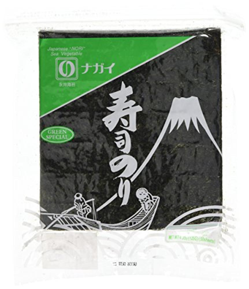 Nagai Yakizushi Green Grade Sushi Nori Seaweed Pack of 50