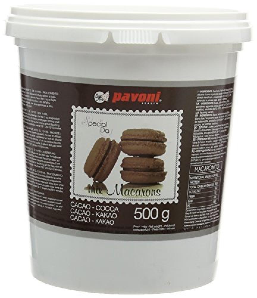 Pavoni Edible Chocolate Brown Macaron Mix 500g