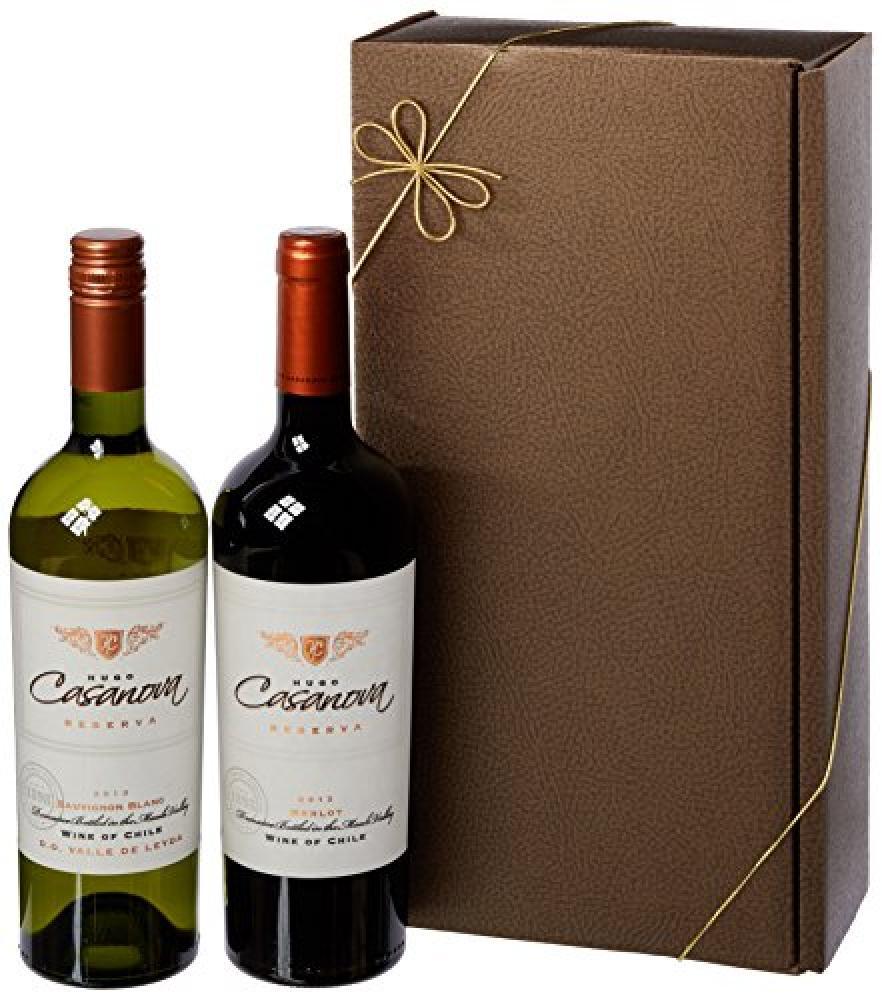 Le Bon Vin Hugo Casanova Chilean Merlot-Sauvignon Gift Set 2x750ml