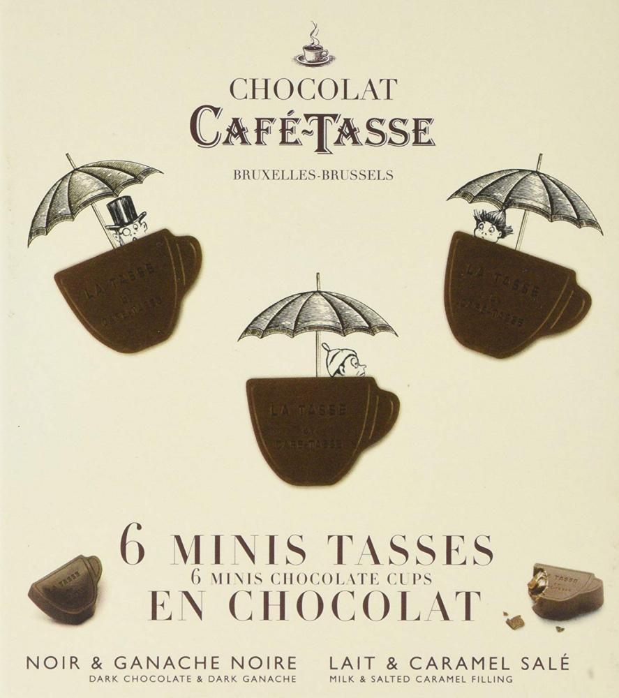 Cafe Tasse 6 Mini Tasses Chocolate Cups 66g