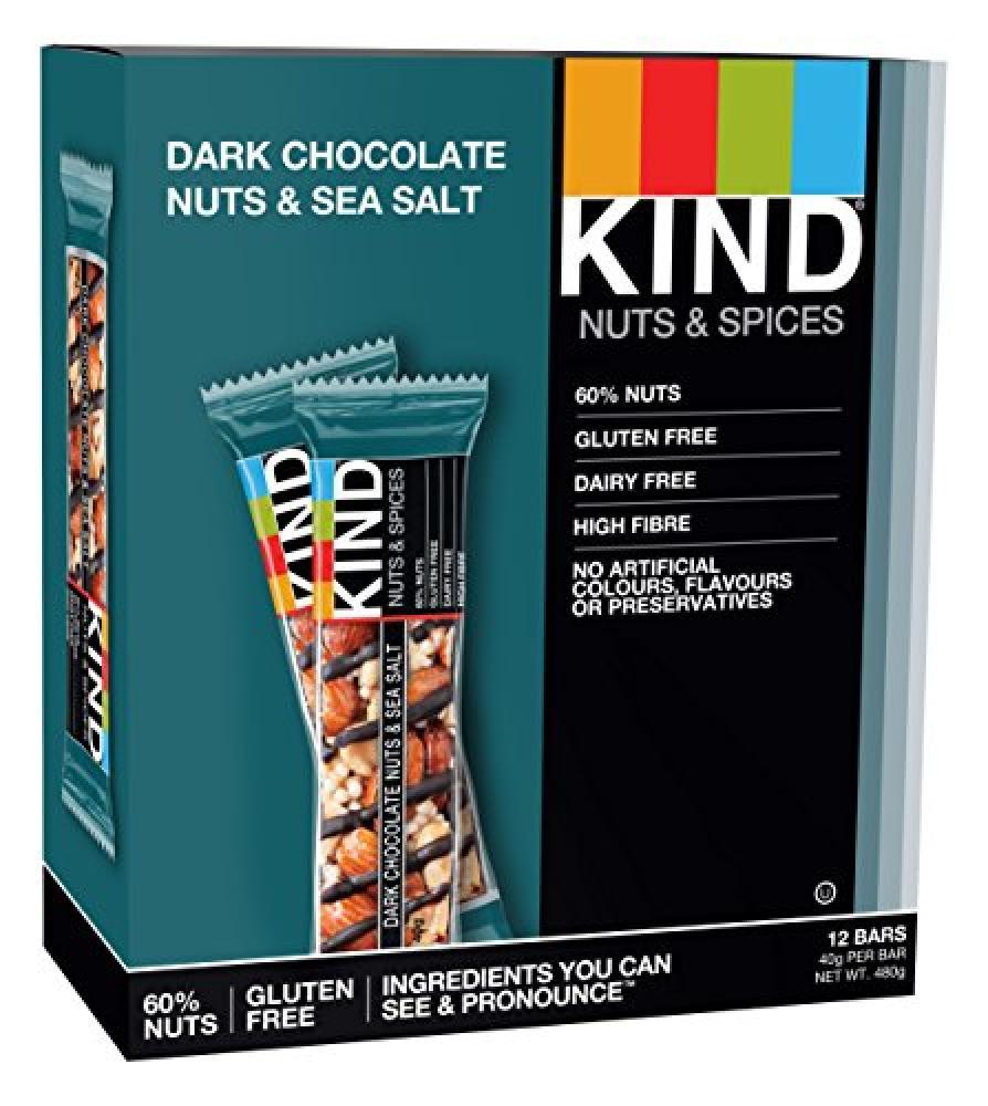 Kind Dark Chocolate Nuts and Sea Salt Bar 40g