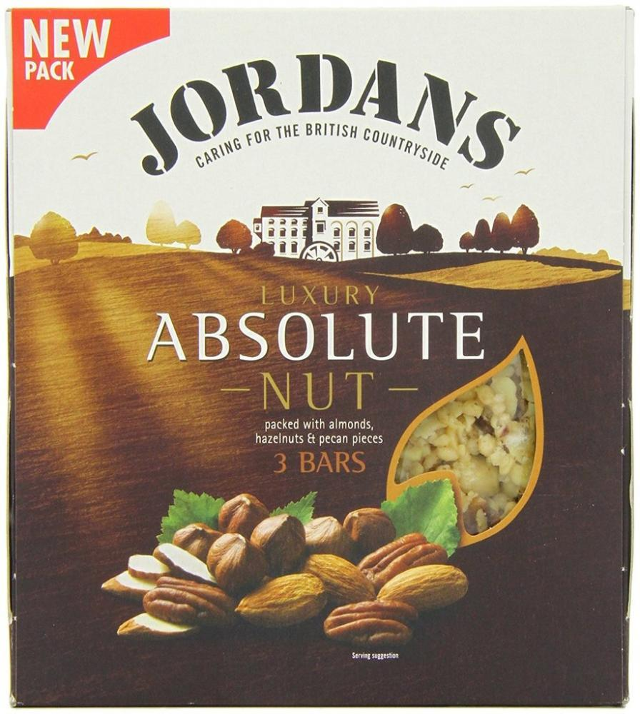 Jordans Absolute Nut 3 Bars 135g
