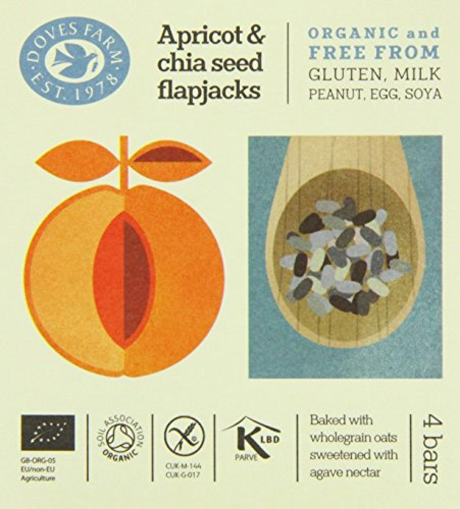 Doves Farm Gluten Free Apricot and Chia Seed Flapjacks Multipack 4 x 35g