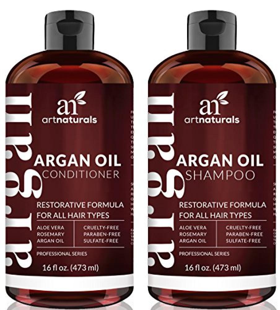 Art Naturals Moroccan Argan-Oil Shampoo and Conditioner Set - (2 x 473ml)