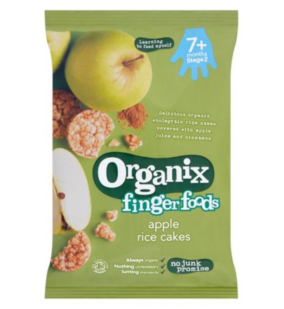 Organix Stage 2 From 7 Months Finger Foods Organic Apple Rice Cakes 50g