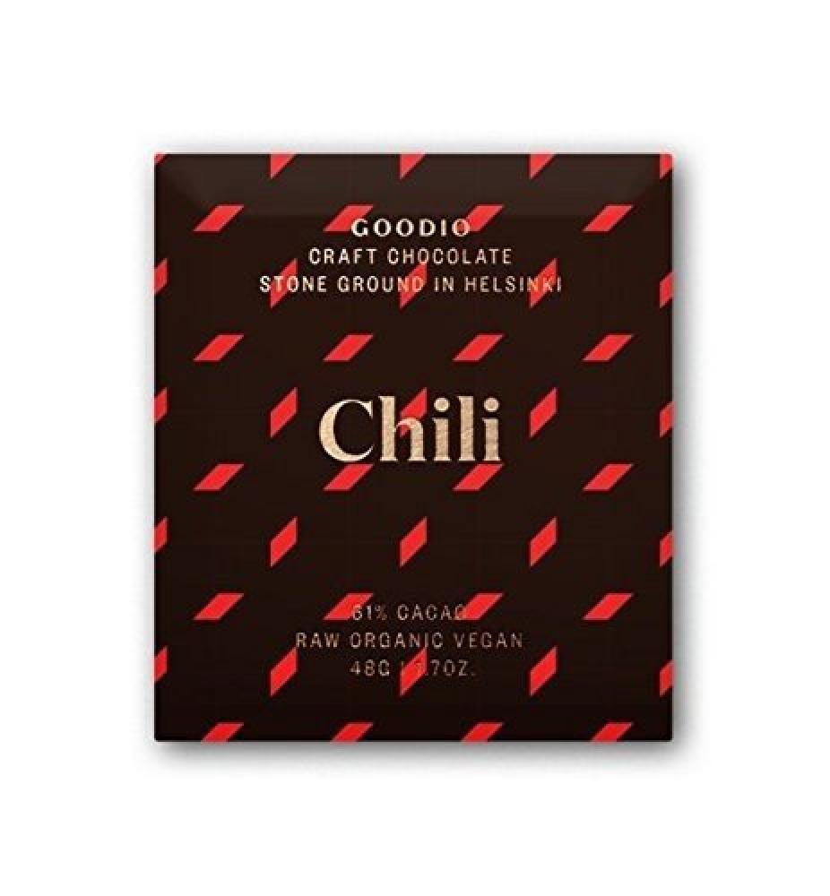 Goodio 61 Percent Chili Raw Chocolate 48g
