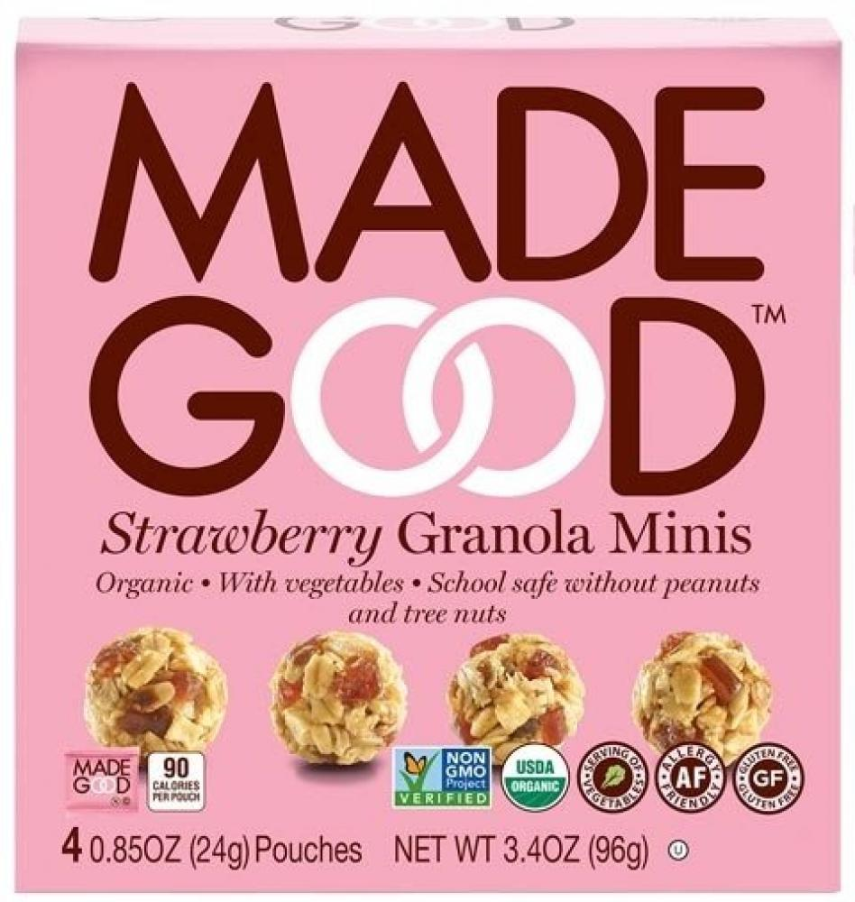 Made Good Strawberry Granola Minis 24g x 4