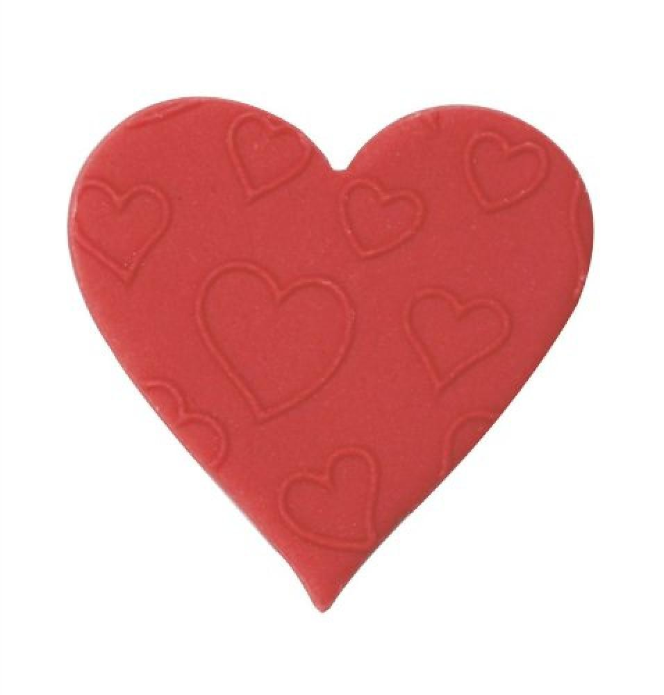 Culpitt Red Embossed Sugar Heart Edible Cake Decorations Pack of 1 Total 420