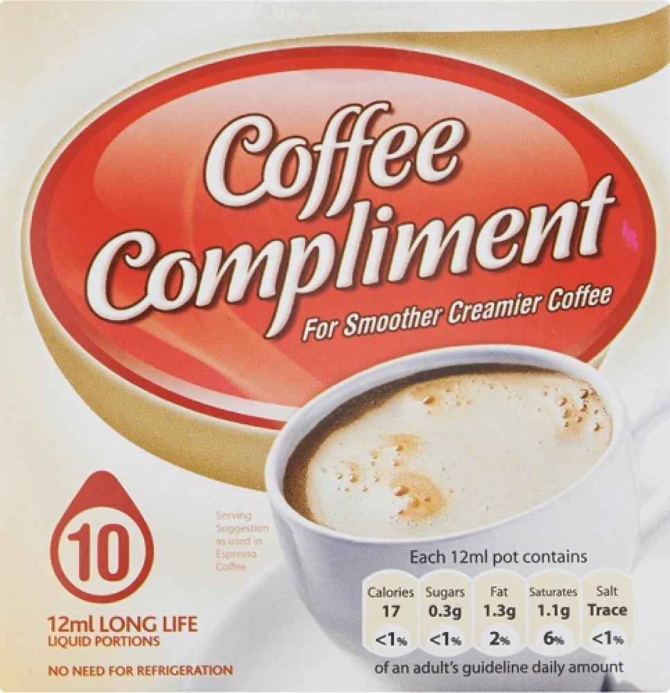 CLEARANCE  Coffee Compliment Long Life Portions 12ml x 10