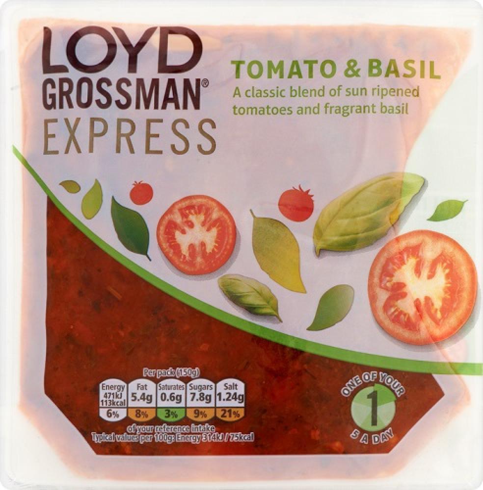 Loyd Grossman Tomato and Basil Sauce 150g