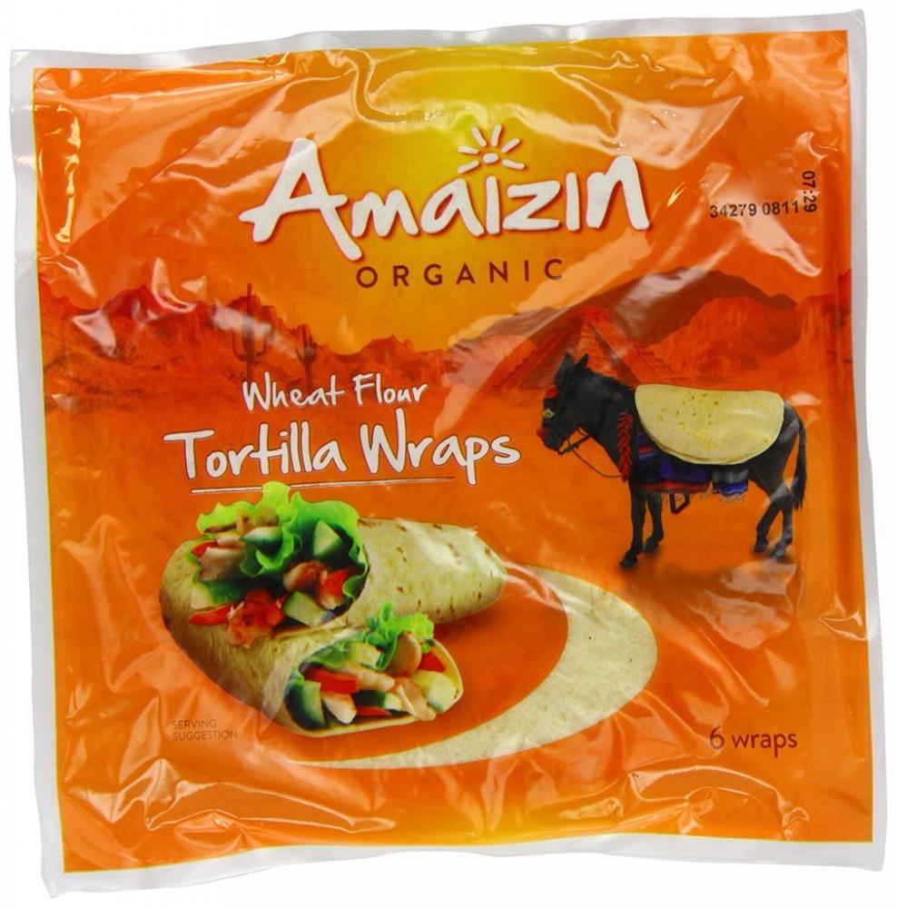 Amaizin Organic Organic Wheat Flour Tortilla 6 Wraps 240g