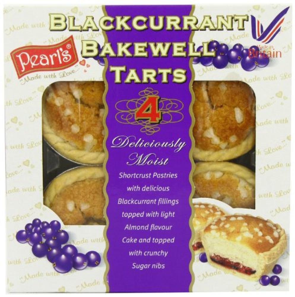 Pearls Foods Blackcurrant Bakewell 4 Tarts