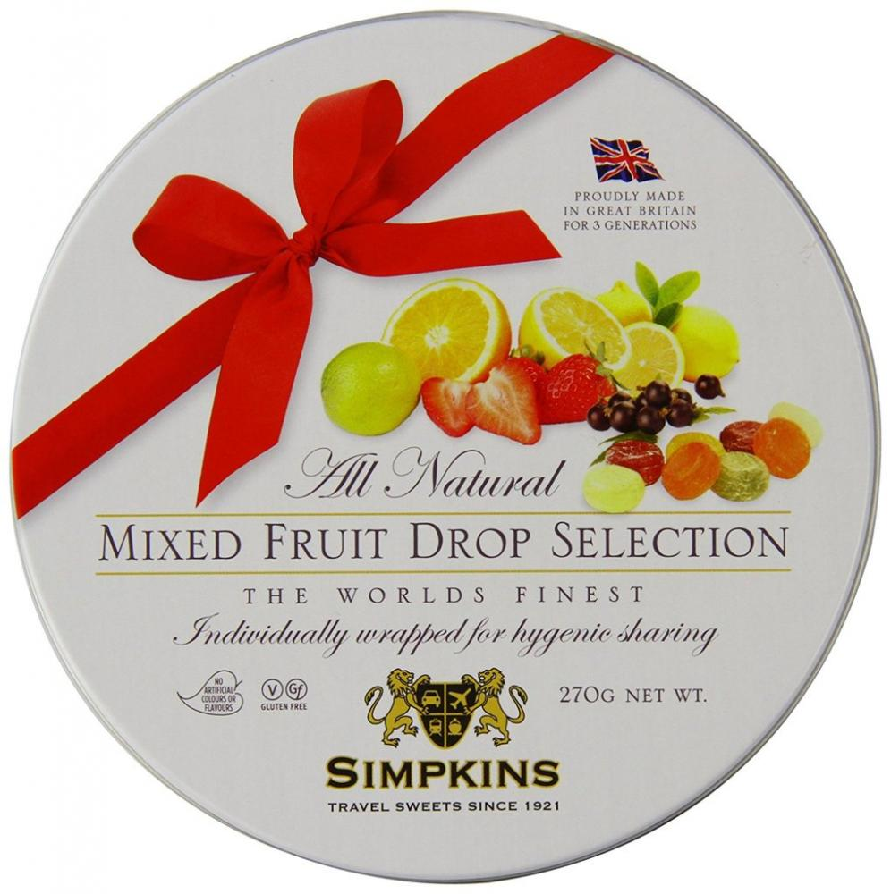 Simpkins All Natural Mixed Fruit Drops 270g