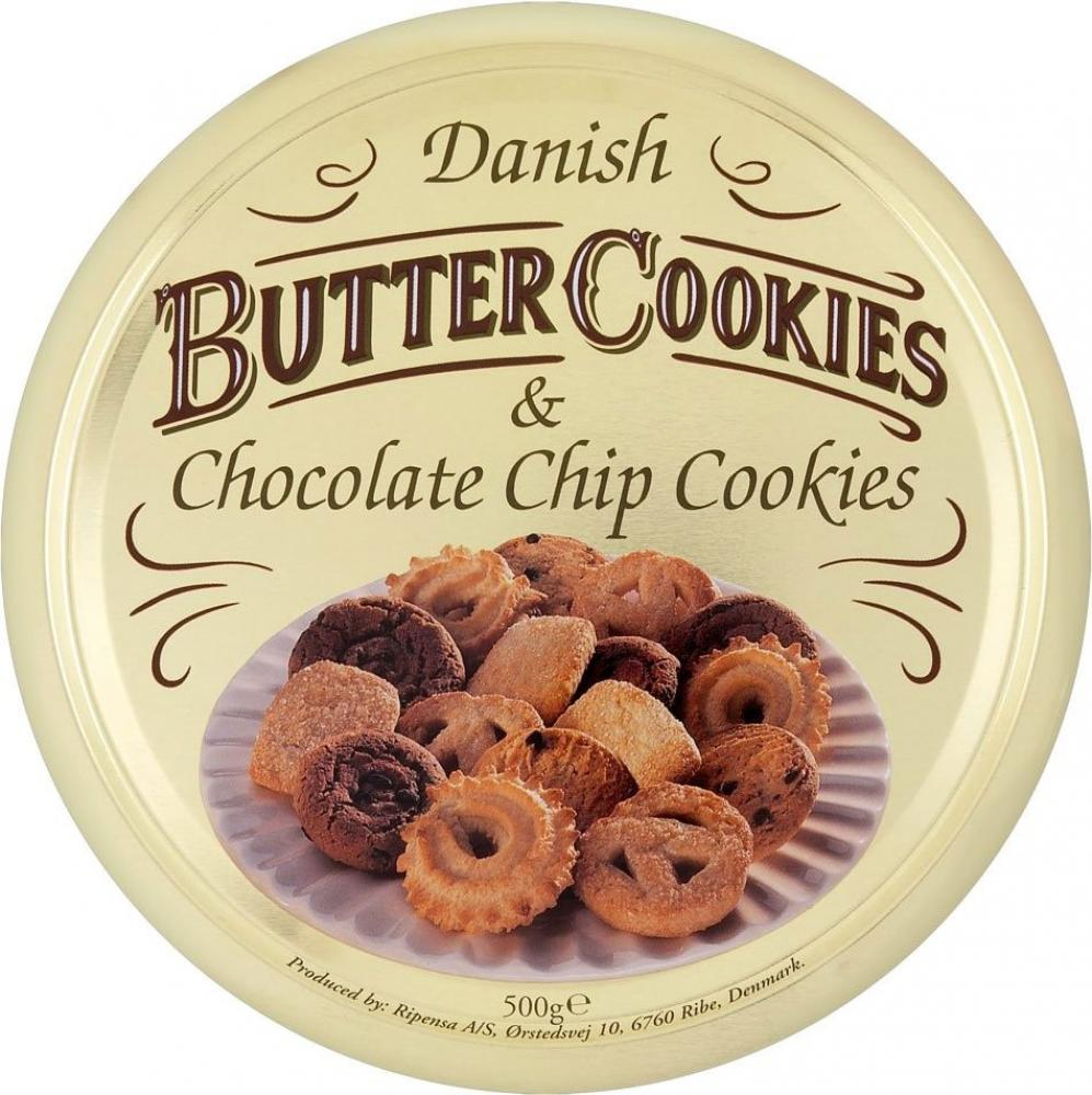 Danish Butter Cookies and Chocolate Chip Cookies 500g